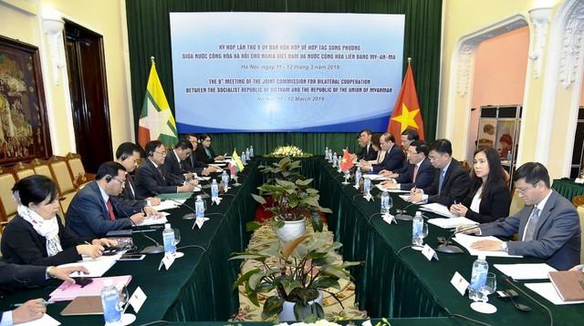 Kỳ họp lần thứ 9 Ủy ban hỗn hợp về hợp tác song phương Việt Nam - Myanmar - Ảnh 1.