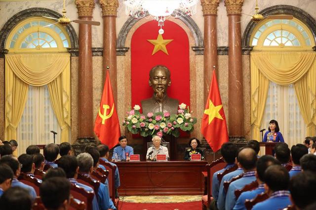 Tổng Bí thư, Chủ tịch nước gặp mặt Đoàn đại biểu Chủ tịch công đoàn cơ sở tiêu biểu - Ảnh 5.