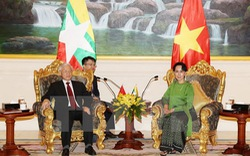 Tổng Bí thư hội kiến Cố vấn Nhà nước Myanmar Aung San Suu Kyi