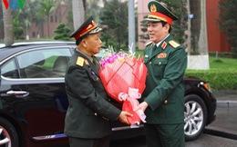 Đại tướng Lương Cường chủ trì lễ đón đoàn đại biểu QĐND Lào