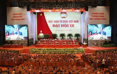 Phiên họp ngày thứ nhất Đại hội MTTQ Việt Nam lần thứ IX